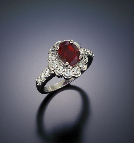 Sunstone Cocktail Ring With Diamonds