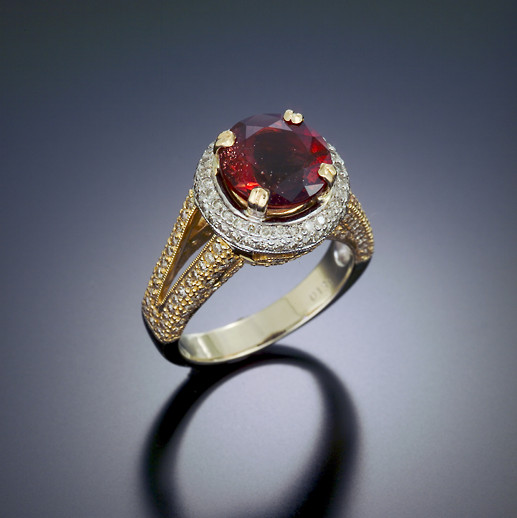 Deep Red with Schiller Ring